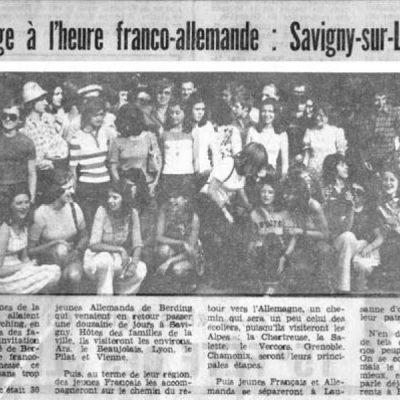 Artikel in der Lokalzeitung von Savigny