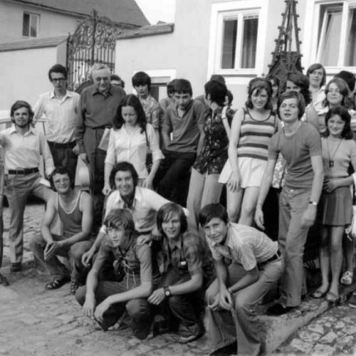 Erster Besuch von Jugendlichen aus Savigny in Berching im August 1972